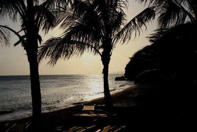 Sonnenuntergang am Kokomo Beach Curaçao, Vaersenbaai