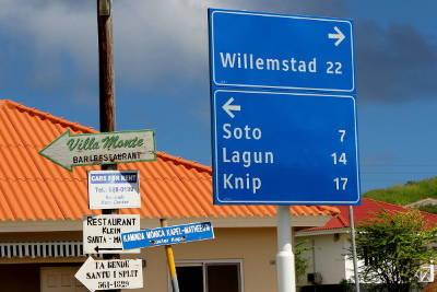 Willemstad - Straßenschild
